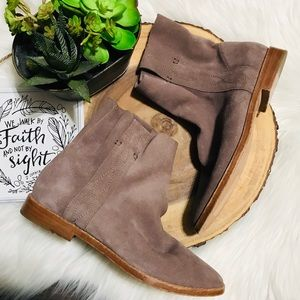 Joie Suede Leather Pull On Booties Sz 38